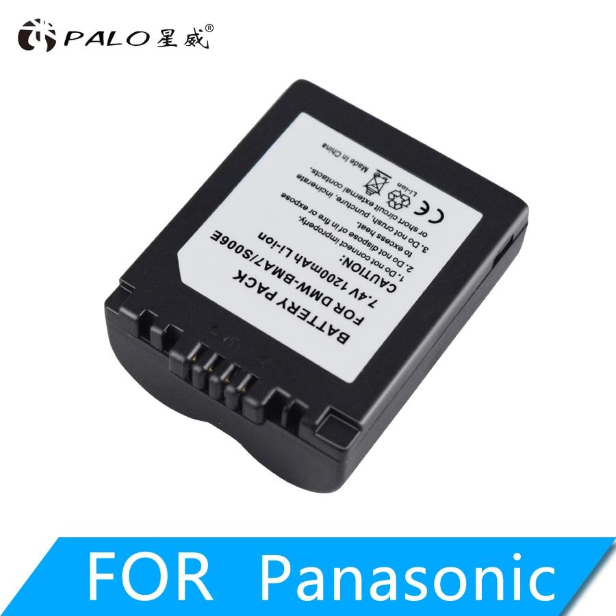 PALO 1200mAh CGA-S006E S006E литий-ионный аккумулятор для Panasonic Lumix DMC-FZ7 FZ8 FZ18 FZ35 FZ28 FZ38 FZ30 запасная батарея камеры