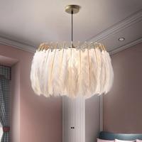 Feather Pendant Lamp Nordic Light Bedroom Pendant Light Modern Living Room Light Clothing Store Net Red Decorative Hanging Light