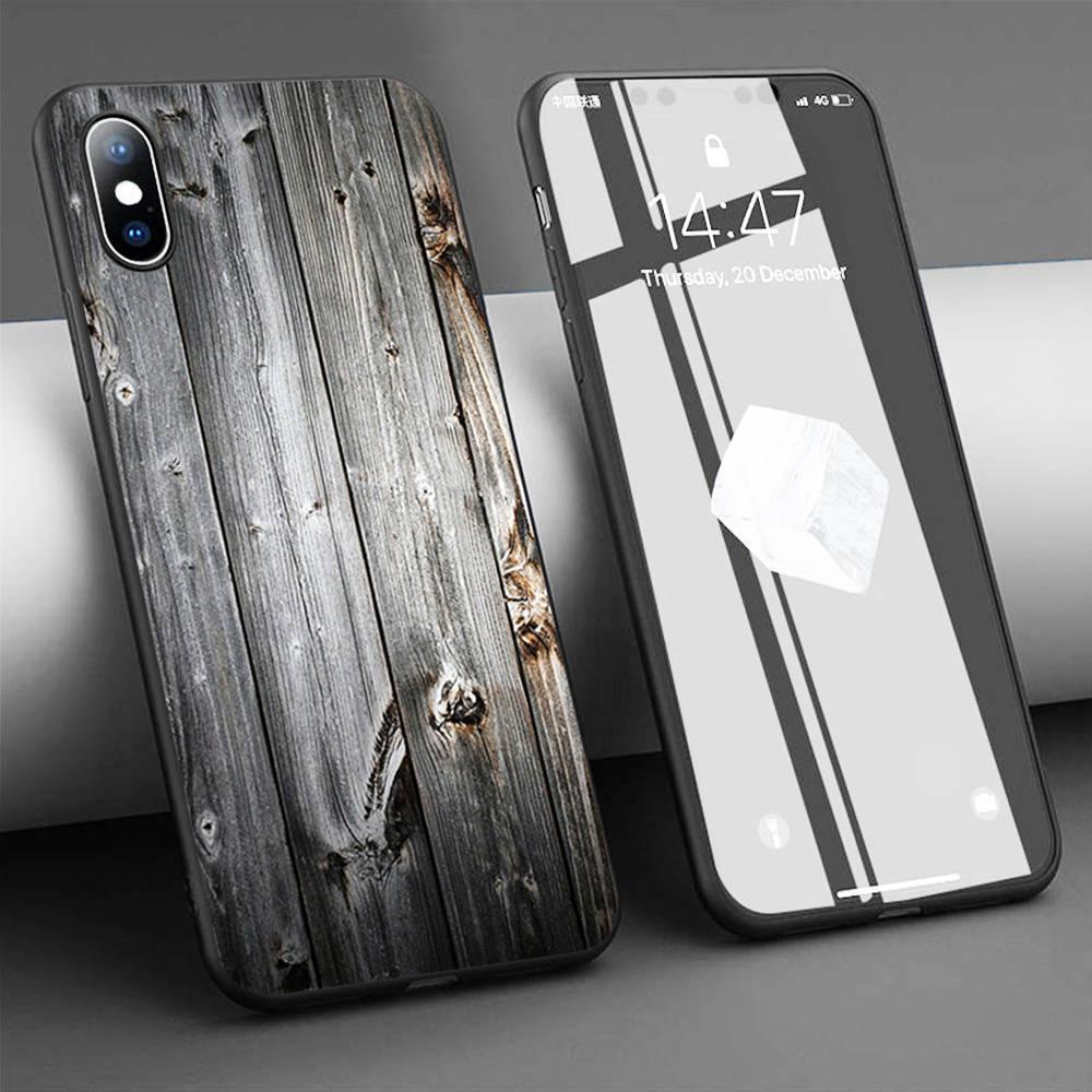 Coque viejo tablones de madera suave funda de silicona Teléfono para iPhone 11 Pro Max X 5S 6 6S XR XS Max 7 8 Plus funda de teléfono
