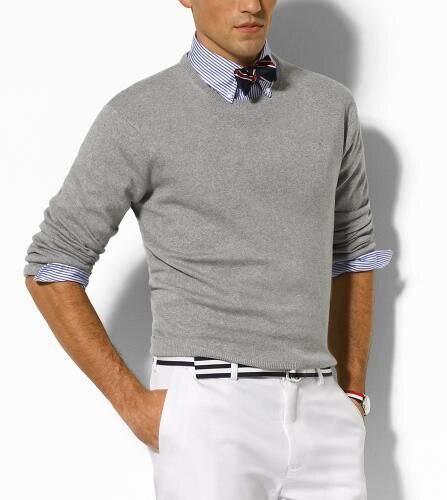 Atacado frete grátis 2020 venda quente em torno do pescoço camisola polo masculino marca camisola 100% algodão pulôver sizem-xxl, transporte da gota