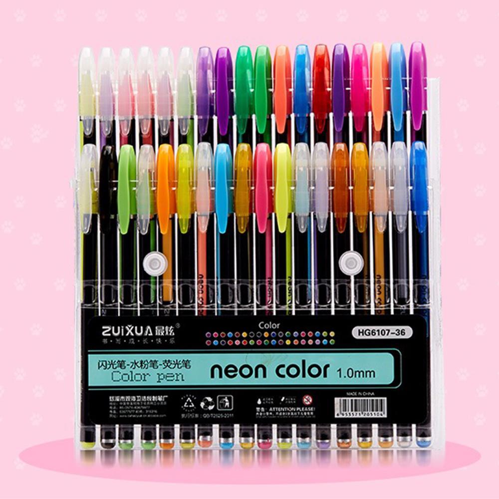 12/24/36/48 Colors Signature Pen Set Gifts Stationery Delicate Neutral Pen Set Student Durable Study Gel Pen Highlighter Pens