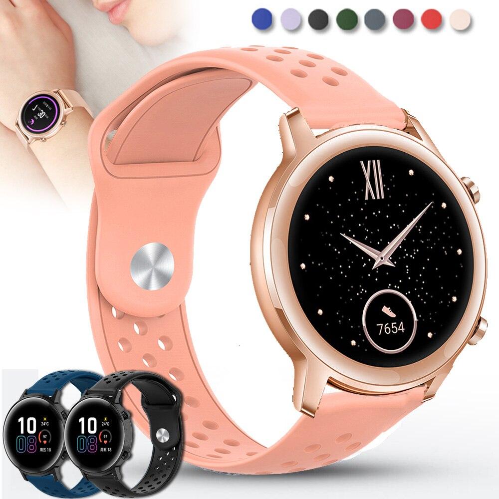 Correa para Huawei Honor magic Watch 2 GT 2 de 42mm, repuesto rápido de correa de 20mm para reloj, pulsera de silicona, correa de reloj