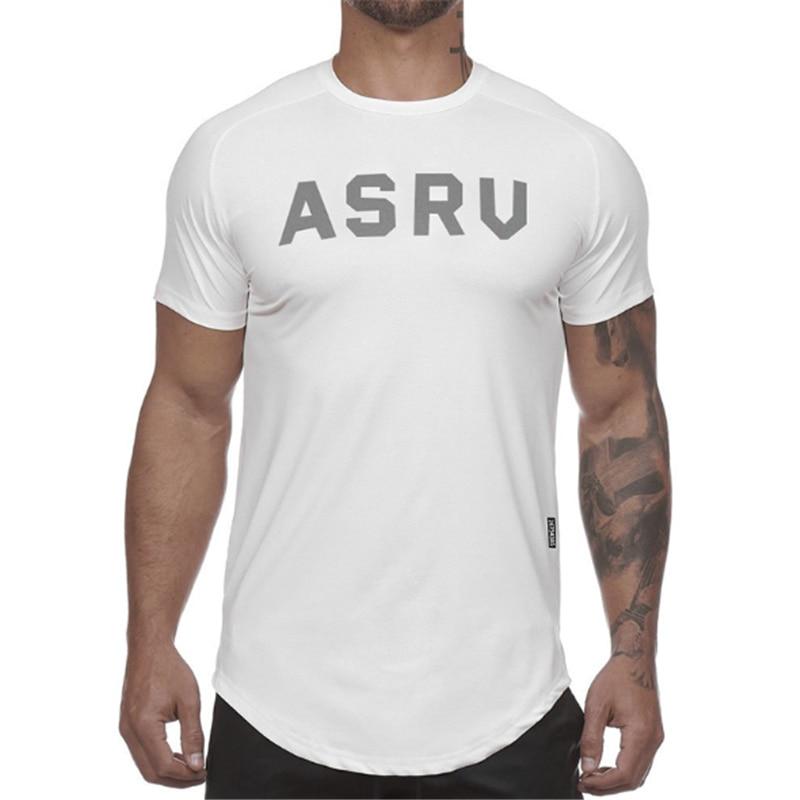 Camiseta de gimnasio para hombre, Camiseta corta de algodón con estampado de...