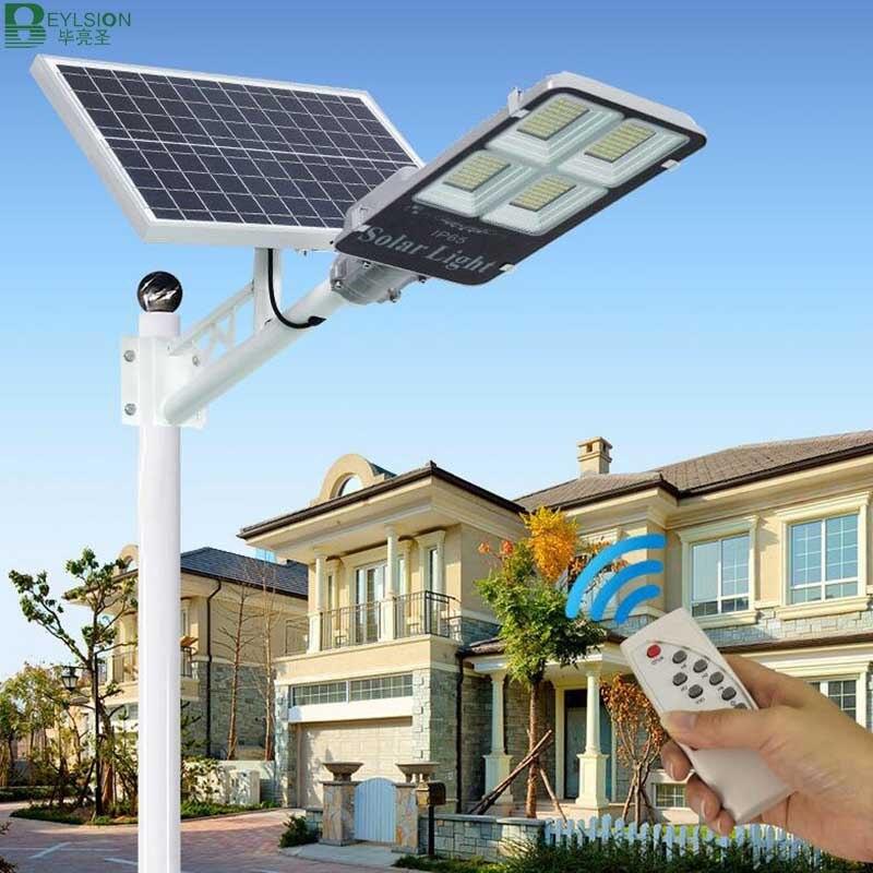Beylsion solar conduziu a lâmpada de rua 300w 200 100 50 30 20 10 solar jardim luz de rua led solar luz solar ao ar livre Luzes de rua    -