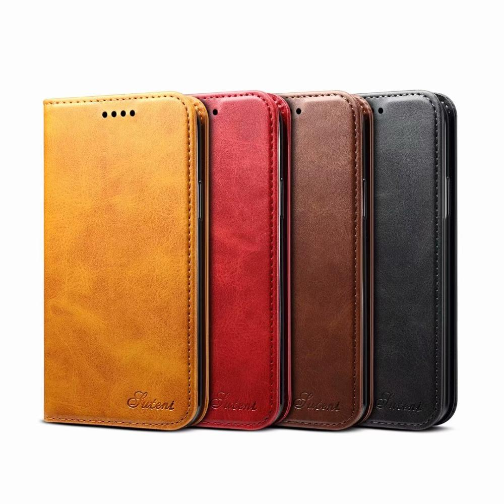 YXAYN Classic Style Leather Flip Wallet Case Magnetic Card Holder Phone Cover For iPhone  X XS  8 7 Plus 11 Pro MAX 12 Mini