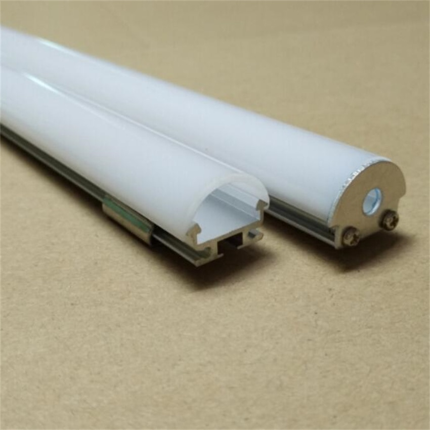 YANGMIN Free Shipping 6.6ft/2M 18X8mm Silver U-Shape Internal Width 13mm LED Aluminum Channel System with Cover, End Caps enlarge