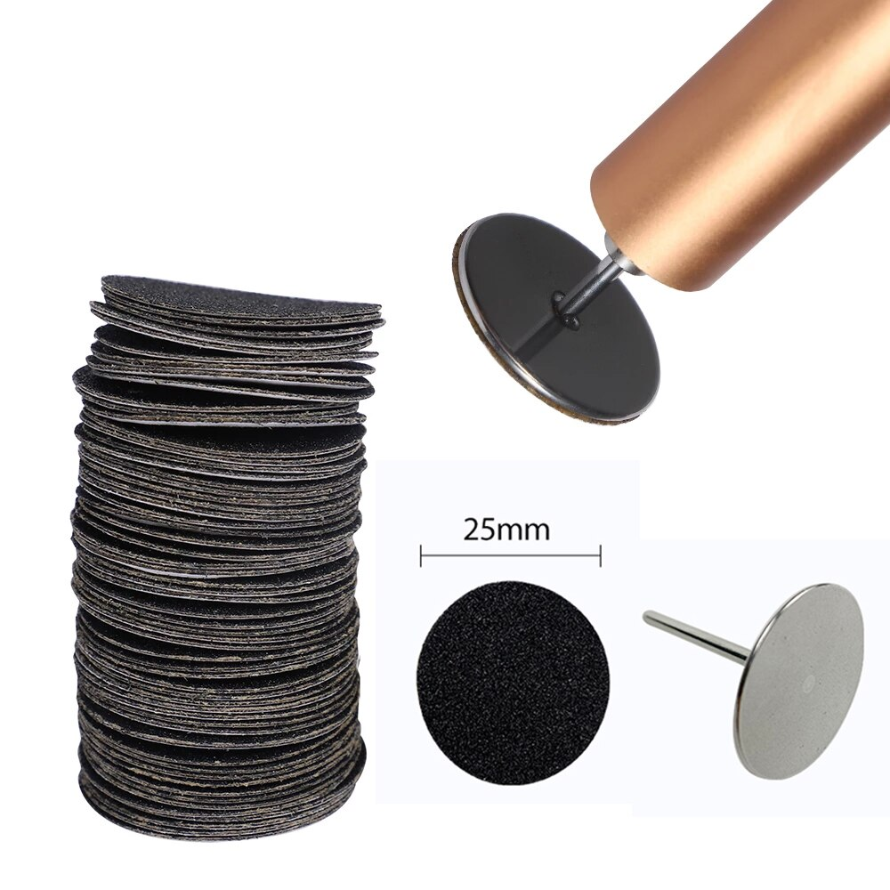 AliExpress - 80/120/180# Replaceable Sandpaper Disc Cuticle Callus Remove Tool Electric Foot File Hard Dead Skin Remove Pedicure Drill Bits
