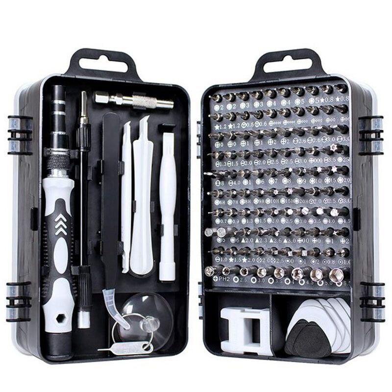 Screwdriver Set 115 In 1 Bit Precision Magnetic Screw Driver Torx Bits Insulated Multitools Phone Repair Hand Tools Kit