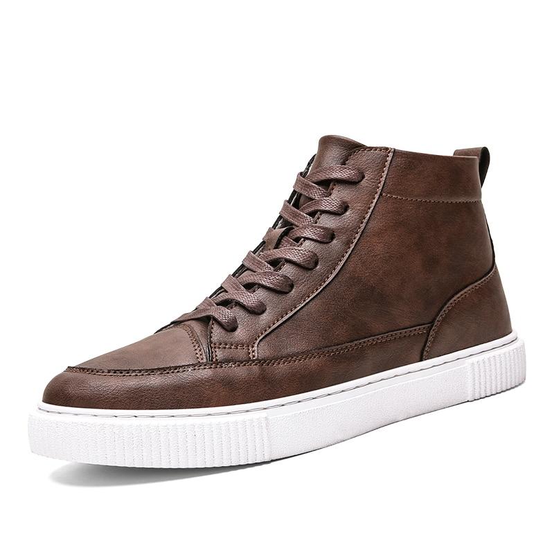 أحذية رياضية جلدية للرجال ، أحذية غير رسمية فاخرة ، أحذية مشي ناعمة ومسامية ، ألوان أسود رمادي بني