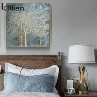 Moderne abstrait peinture a lhuile affiches et impressions mur Art toile peinture arbres salon decoration peinture mur maison deco