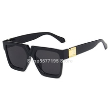 2020 Oversized Square Sunglasses Women Luxury Brand Fashion Flat Top colorful Clear Lens Sun Glasses