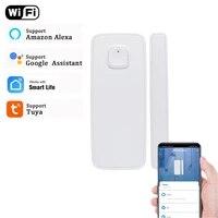 Detecteur douverture de porte fenetre Tuya  capteur de securite compatible avec alexa et google home  wi-fi  Notification  alarme  accessoires de securite pour la maison