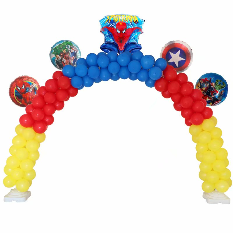 1 Juego de arco de globo, globo de boda, soporte de columna, globo de bastón, cadena, globo, telón de fondo, recuerdo de fiesta de cumpleaños, decoración de gran evento
