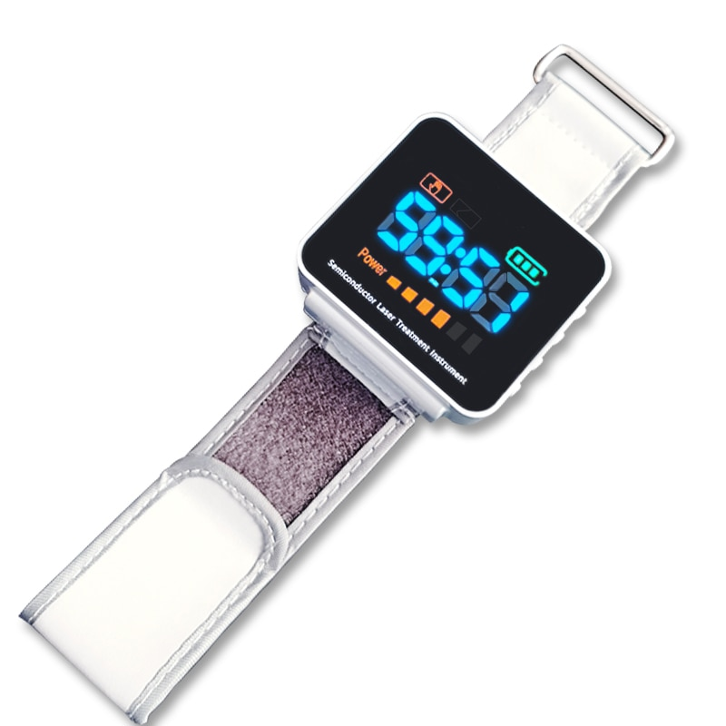 Cold Laser Therapy Watch,High Blood Pressure / Sugar LLLT Treatment Diabetes Cholesterol Hypertension Rhinitis Watch Laser