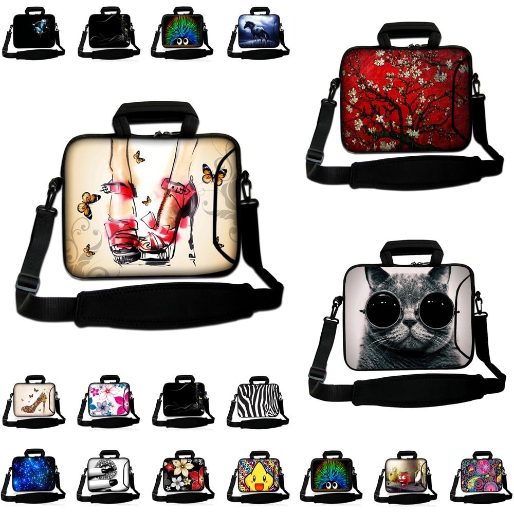 De neopreno 10 12 11,6 13,3 14 15 17 pulgadas portátil mensajero bolsa maletín para Macbook Air Pro 11 13 Huawei Matebook nuevo D14