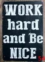 1pc work hard quotes motivation plaques tin plate sign wall man cave decoration poster metal vintage retro shabby decor shop