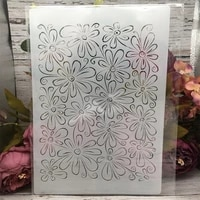 a4 29cm transparent flowers texture diy layering stencils wall painting scrapbook coloring embossing album decorative template