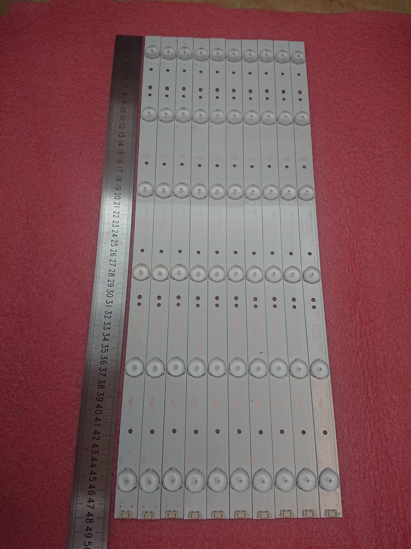 New 10pcs/set 6LED 480mm LED backlight strip for LC490DUJ-SHA2 5800-W49001-1P00 5800-W49001-2P00 0P00 DP00 5850-W50007-1P00