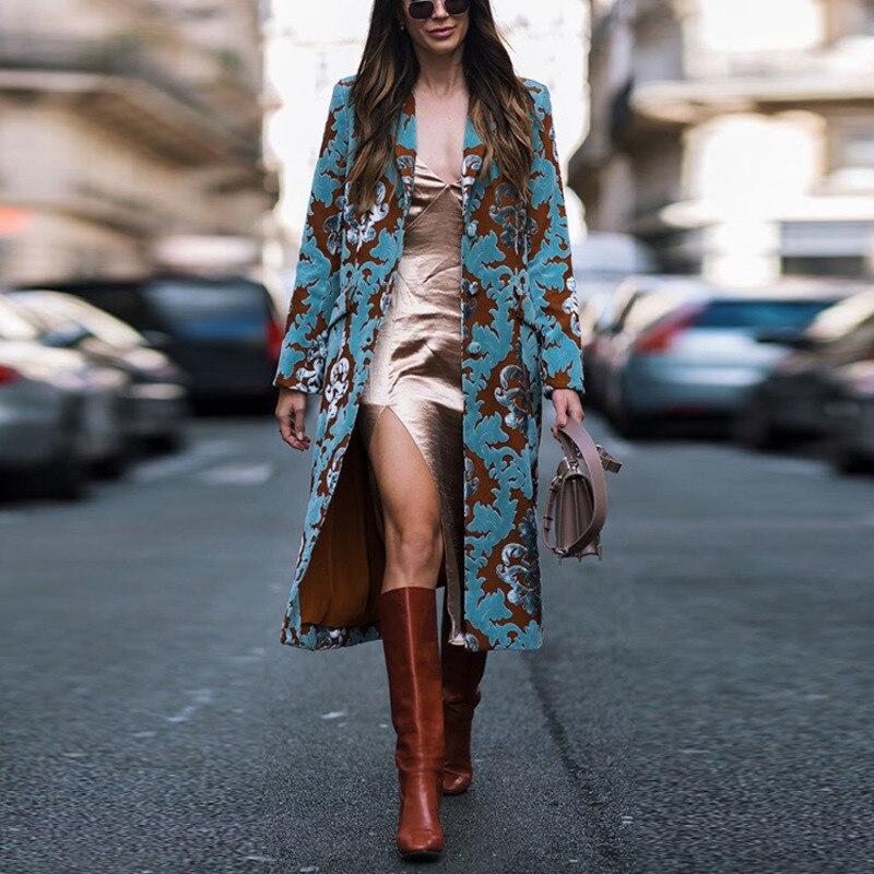 جاكيت نسائي عتيق بجيوب وأزرار ، معطف طويل محبوك دافئ ، معاطف نسائية ، أزياء شتوية ، مزيج من الصوف ، ملابس الشارع
