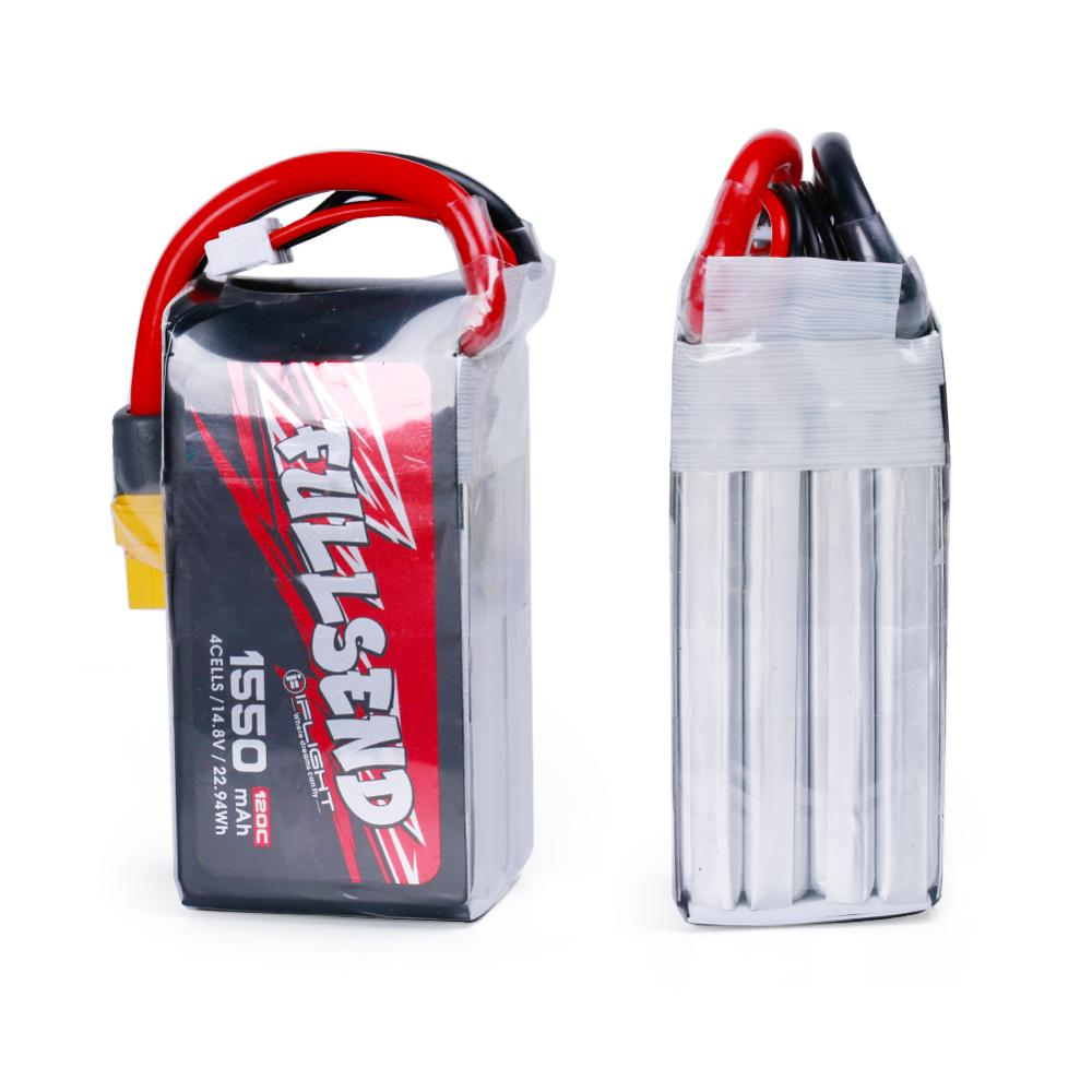IFlight Fullsend LiPo batería 1300mAh 120C 14,8 V 4S/1300 mAh 120C 22,2 V 6 S/120C 14,8 V 4S con XT60H enchufe para FPV drone