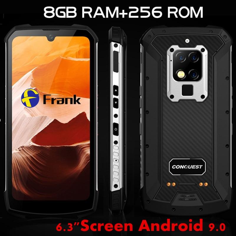 Conquest-teléfono inteligente S16, pantalla de 6,3 pulgadas, procesador Helio P90, Octa Core, 256GB 8GB, cámara de 48MP, Android OS 9, mando a distancia con infrarrojos