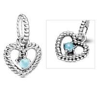 original 925 sterling silver charm hand painted love birthday pendant fit pandora women bracelet necklace diy jewelry