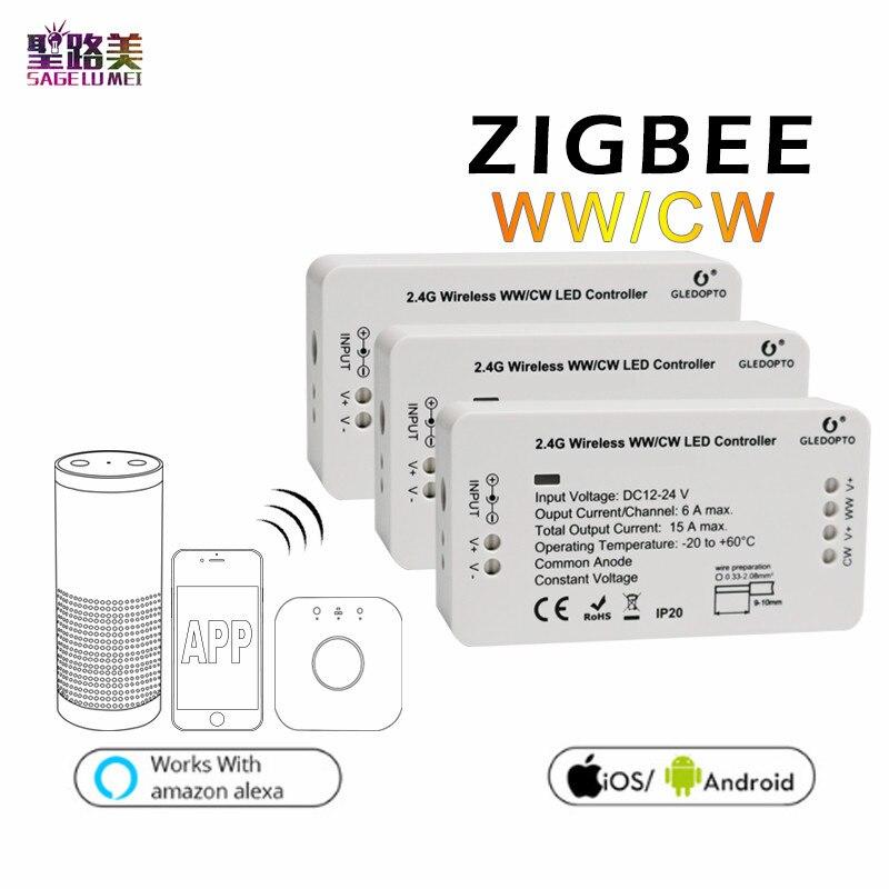 Controlador conduzido do controle do aplicativo do telefone de zll para a fita 5050 dc12v-24v do diodo emissor de luz
