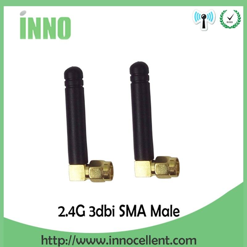2 uds 2,4 Ghz antena wifi conector macho SMA 2 ~ 3dbi 2,4 ghz wifi antena 2,4G wifi antenas de tamaño pequeño a prueba de agua