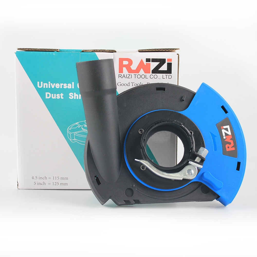 Raizi 7 inch/180 mm Universal Dust Shroud for Angle Grinder with Concrete Grinding Disc Dry Surface Dust Collect Cover Tools Kit enlarge