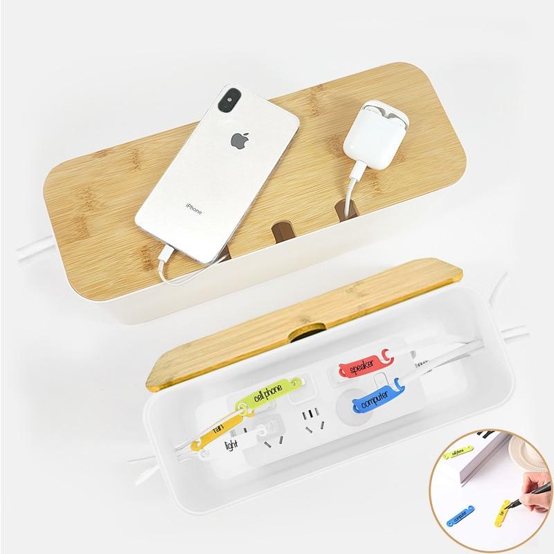 Caja de plástico para almacenamiento de cables, funda para cables, organizador de...