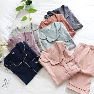 New Cotton Pajamas for Women Summer Sleepwear Plus Size for Woman Long Sleeve Sexy Sleepwear Pijama Female Home Clothing Pyjama