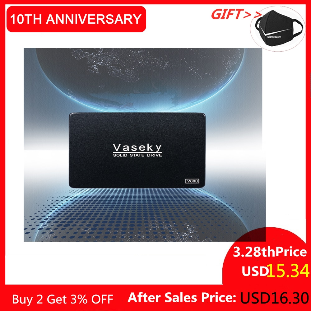Vaseky-disco duro V800 SSD, 500GB, 240GB, disco de estado sólido interno de 2,5 pulgadas, SATA3 380 MB/s 60g 64g 120g 128g HHD Sata