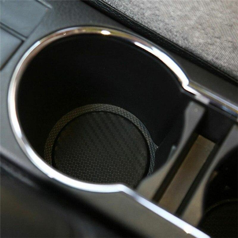 2 шт., автомобильные Нескользящие коврики из углеродного волокна, 2 шт.