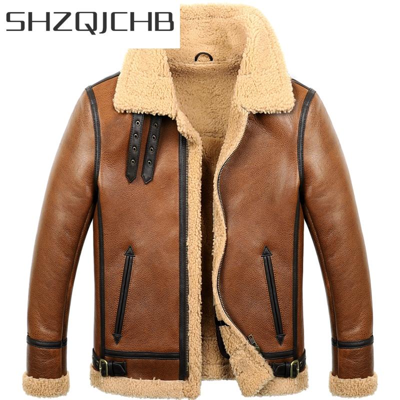 معطف رجالي شتوي من الفراء الحقيقي من SHZQ ملابس 2021 جاكيت من الجلد الأصلي 100% جاكيت منفوخ من جلد الغنم معطف من جلد الغنم معطف Hiver M860