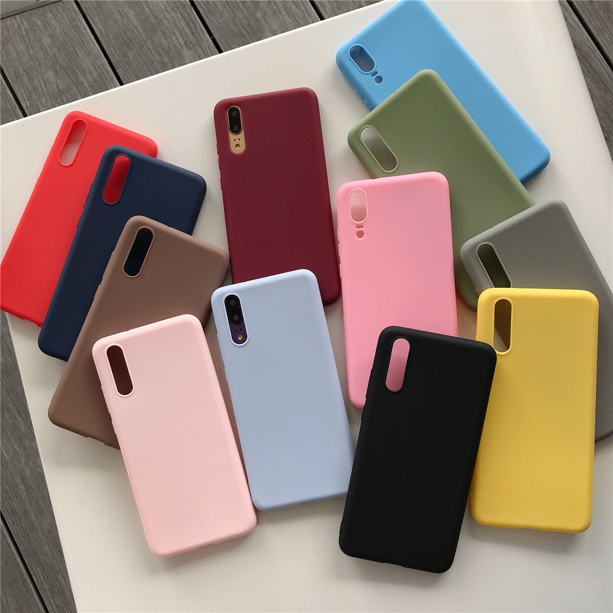 Funda Color caramelo para Samsung Galaxy A50 A20 A30 A50 J7 PRO J2 Prime silicona suave a prueba de golpes
