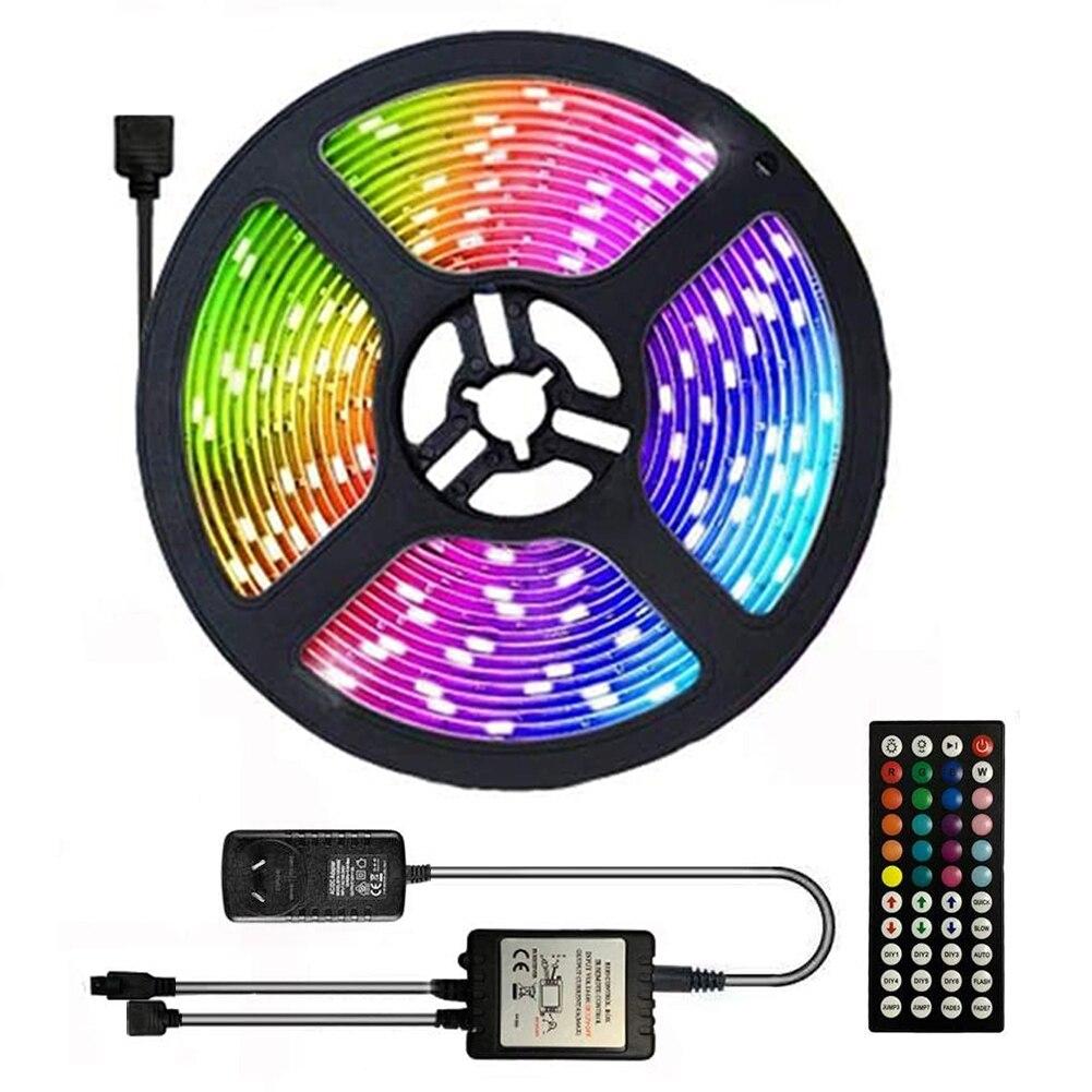 SMD 5050 RBG светодиодный гибкая ленточная полоса лампа Романтические Праздничные огни наружное освещение для настольного экрана декоративные