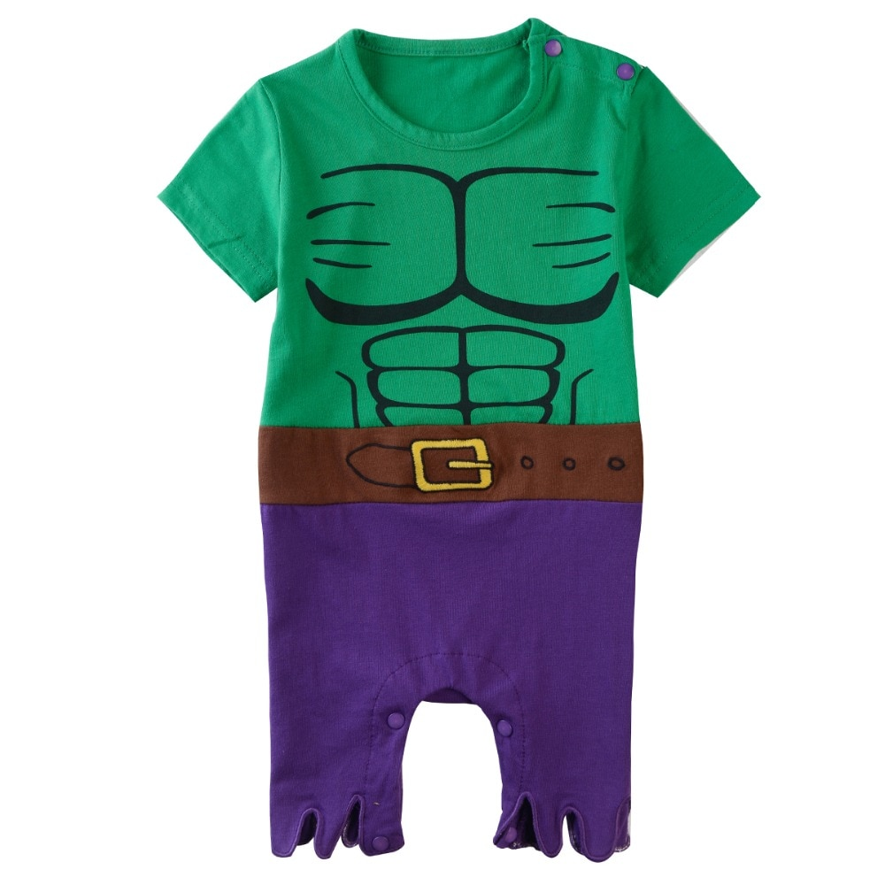 Jungen Hulk Strampler Baby Marvel The Avengers Cosplay Outfits Kleinkind Superhero Kostüm Junge Baumwolle Overall