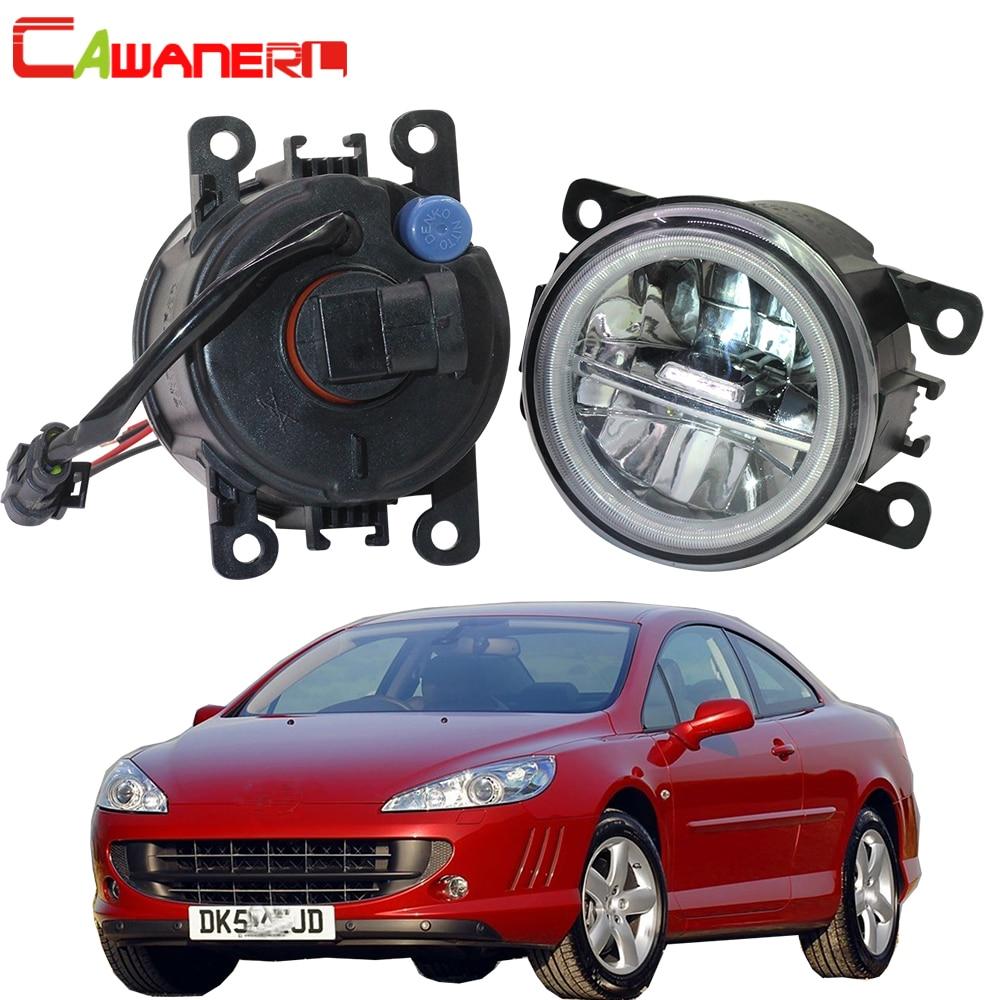 Cawanerl Voor Peugeot 407 Coupe 6C _ 2005-2011 Auto Styling 4000LM Led Lamp H11 Mistlamp + Angel eye Dagrijverlichting Drl 12V