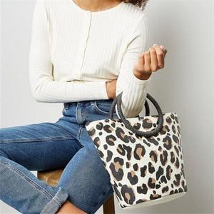 New Style WOMEN'S Bag European American Style Tote Bag Leopord Pattern High Quality Shoulder Crossbody Bag Luxury Handbags