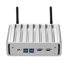 Mini PC Intel Core i7 5500U i5 5200U i3 5005U Windows Linux double Gigabit LAN double COM RS232 Ports HDMI VGA 4xUSB3. 0 WiFi HTPC