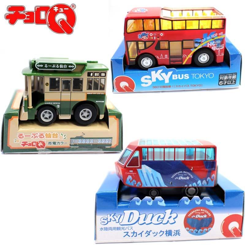 New Takara Tomy Choro Q Toy Cars Tokyo Bus Plastic pullback car sky duck watching bus loop bus
