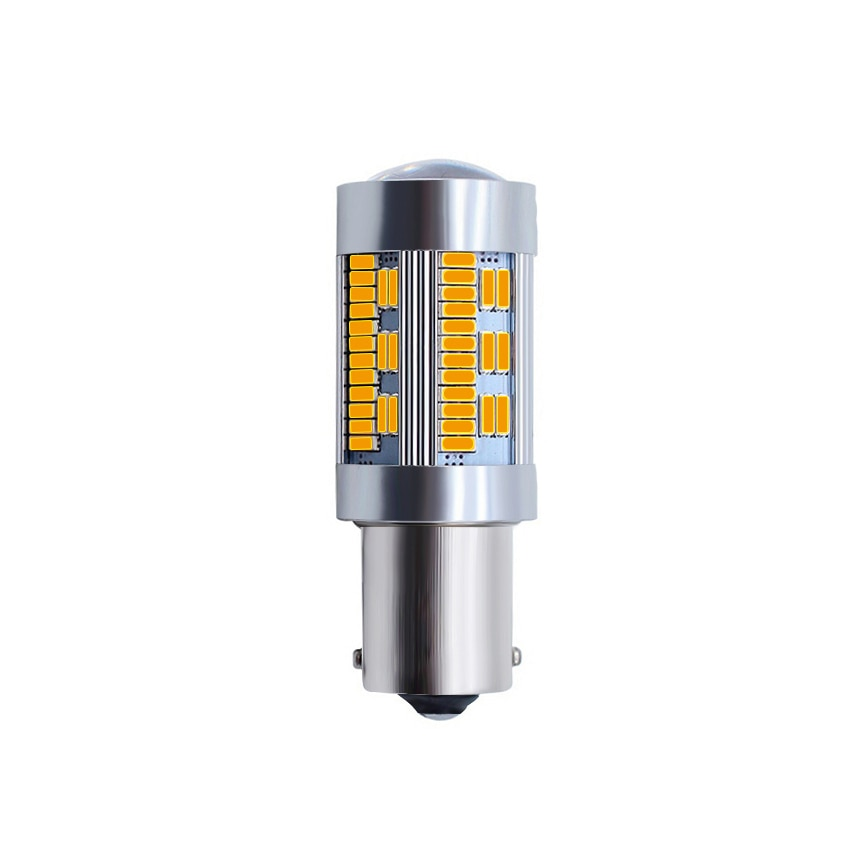 1156 p21w py21w 7440 w21w t20 4014 105smd canbus nenhum hyperclash conduziu a lâmpada para reverso turn signal luz de freio lada amarelo