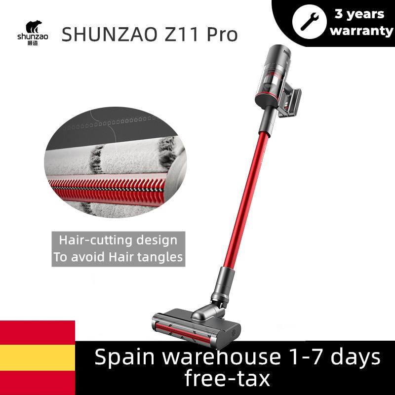 Saç kesme tasarım elektrikli süpürge SHUNZAO Z11 Z11Pro OLED ekran kendinden temiz saç kesme 26000Pa değiştirilebilir pil tasarım