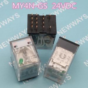 3Pcs/Lot Relay My4N-Gs Dc24V 24Vdc 24V Dip14 Instead Of My4N-J New And Original