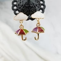 shamir clouds south korea design color stereoscopic umbrellas drip earrings girl jewelry gifts