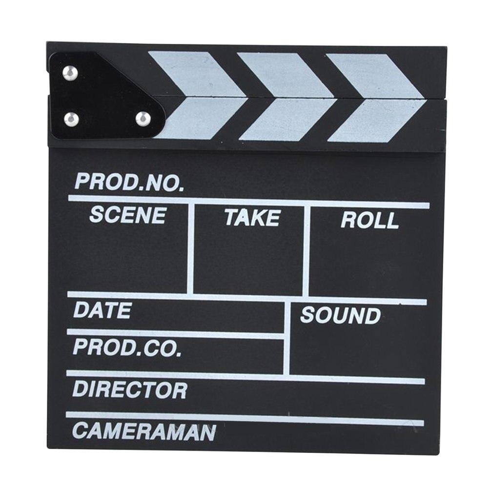 Director Video acrílico rígido Tv película pizarra con palos de Color 20*20 Cm moda profesional portátil