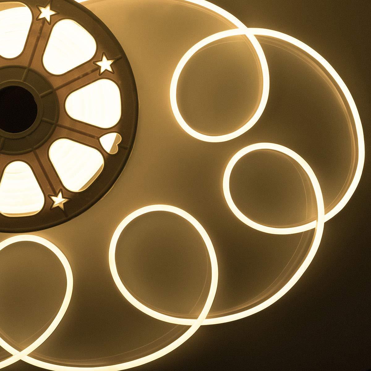 Flexible LED Neon Light SMD2835 120leds/M Waterproof Soft Tube Rope Light Strip AC220V-240V Warm/White/Red/Green/Blue/Pink/RGB