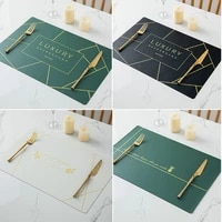 leather western placemat pvc waterproof anti skid oilproof heat resistant table mat bowl mat coaster mouse pad tablecloth custom