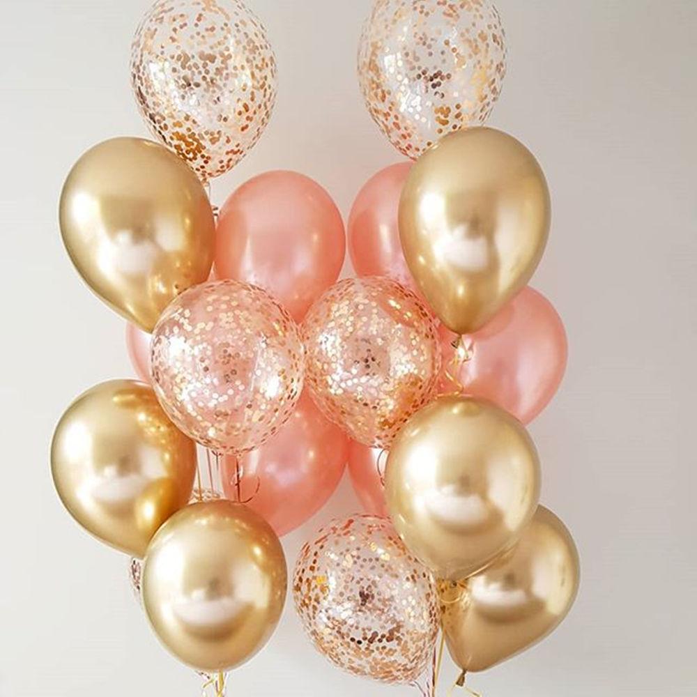 Globos de Metal y oro cromado, para fiestas, bodas