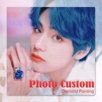QIZITENG     peinture diamant personnalisee avec Photo  broderie complete 5d  perles carrees ou rondes  mosaique  point de croix  decoration dinterieur  cadeau
